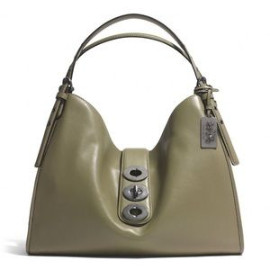 COACH Madison Triple Turnlock Carlyle Leather Bag